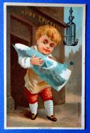 CHROMO ....LITH. BOGNARD........PARFUMERIE......EAU DE TOILETTE COSMYDOR...L'ÉPICIER...  ENFANT...GROS PAIN DE SUCRE - Trade Cards
