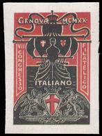 ITALIA - VII Congresso Filatelico Italiano - Genova 1920 - Erinnofilia