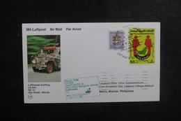 EMIRATS ARABES UNIS - Enveloppe 1er Vol De Abu Dhabi / Bangkok / Manille En 1986, Affranchissement Plaisant - L 39484 - Emiratos Árabes Unidos