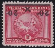 Belgie    .    OBP      .    185 (2 Scans)  Keur/signé     .      **       .   Postfris    .  / .  Neuf Sans  Charniere - Belgique