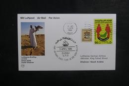 EMIRATS ARABES UNIS - Enveloppe 1er Vol De Dubaï / Dhahran En 1986, Affranchissement Plaisant - L 39485 - Emiratos Árabes Unidos
