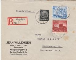 Allemagne Lettre Recommandée Königsberg 1940 - Germania