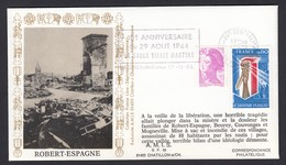 France French Cover Lettre 1984 WW2 Liberation Robert Espagne Cachet - France