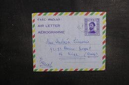 ETHIOPIE - Aérogramme De Addis Abeba Pour La France - L 39488 - Etiopía