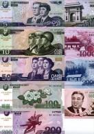 KOREA 5,10,50,100,200,500,1000,2000,5000 Won (2014) Commemorative Set **UNC** - Corea Del Norte
