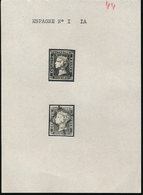 SPAIN 1850 ISSUE YVERT 1/1A NICE USED  BLACK CANCELLATION VERY NICE STAMPS - 1850-68 Royaume: Isabelle II