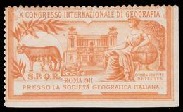 ERINNOFILO:  X Congresso Internazionale Di Geografia Roma 1911 - Erinnofilia