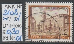 """17.6.1992 -  Freim.-Erg.Wert """"Stifte U. Klöster In Österreich""""  -   O  Gestempelt  -  Siehe Scan  (2102o 01-16) - 1991-00 Usados"""