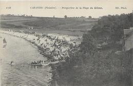 29, Finistère, CARANTEC, Perspective De La Plage Du Kélenn, Scan Recto Verso - Carantec