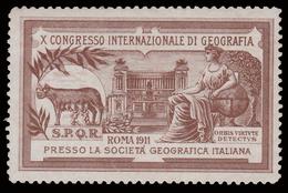ERINNOFILO:  X Congresso Internazionale Di Geografia Roma 1911 (B) - Erinnofilia
