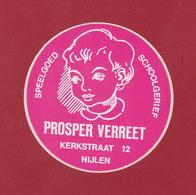 Sticker Autocollant Speelgoed Schoolgerief Prosper Verreet Kerkstraat Nijlen Antwerpse Kempen Aufkleber Adesivo - Stickers