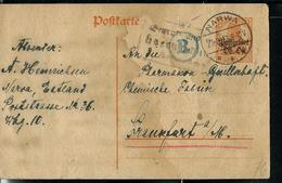 Carte Occupation Allemande  Obl. NARWA 27/09/18 Pour L'Allemagne - Estonie