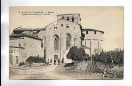 16 - MARCILLAC-LANVILLE - L' Eglise ( Façade Principale, XII° Siècle ) - France