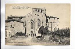 16 - MARCILLAC-LANVILLE - L' Eglise ( Façade Principale, XII° Siècle ) - Francia