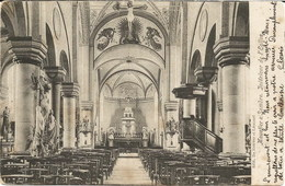 MOUSTIER-sur-SAMBRE - Intérieur De L'Eglise - Oblitération De 1904 - Edit. De Roover Et Léonard - Jemeppe-sur-Sambre