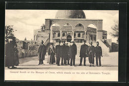 AK Omar, General Booth At The Mosque, Which Stands On The Site Of Soloman's Temple - Palästina