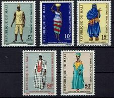 Mali 1971 - Trachten  Folk Costume - MiNr 279-283 - Kostüme