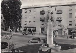 CIVITAVECCHIA-VIA ROMA-CARTOLINA VERA FOTOGRAFIA VIAGGIATA TRA IL 1950-1955 - Civitavecchia