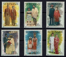 Surinam Suriname 1988 - Trachten  Folk Costume - MiNr 1252-1257 - Kostüme