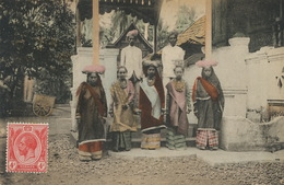 Group Of Malay Hindus . Stamp Straits Settlements . Not Postally Used . Hand Colored - Malaysia