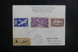 A.O.F. - Enveloppe En Recommandé Par 1er Vol Dakar / Bissao En 1947, Affranchissement Plaisant - L 39507 - Lettres & Documents