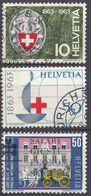 HELVETIA - SUISSE - SVIZZERA - 1963 - Lotto Di 3 Valori Usati: Yvert 706, 709 E 710. - Usati