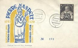 FDC  JOUR D'EMISSION  -  25-9-1953  PIERRE D'ASPELT  No. 161  Édité Par Romain Thill,Rumelange - FDC