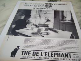 ANCIENNE PUBLICITE THE DE L ELEPHANT  1963 - Affiches