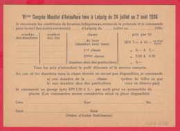 247658 / VII  CONGRES MONDIAL D'AVICULTURE TENU A LEIPZIG DU 24 JUILLET AU 2 AOUT 1936 , Germany Allemagne Deutschland - Allemagne