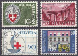 HELVETIA - SUISSE - SVIZZERA - 1963 - Lotto Di 4 Valori Usati: Yvert 706, 707, 709 E 710. - Usati