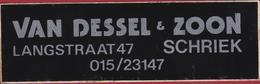 Sticker Autocollant Van Dessel En Zoon Langstraat Schriek Aufkleber Adesivo - Stickers