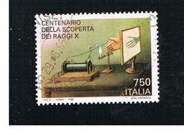 ITALIA REPUBBLICA  - UNIF. 2203.            -   1995 RAGGI X                   -            USATO - 6. 1946-.. Repubblica
