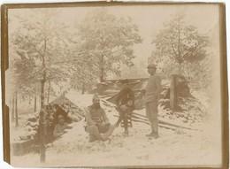 Photo Soldats Français Bivouac Dans La Neige / 14-18 / WW1 / POILU - 1914-18