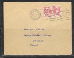 LOT 1908002 - N° 672 EN PAIRE SUR LETTRE DE MARSEILLE DU 14/04/45 POUR SAINT DONAS - Poststempel (Briefe)