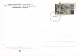 33648. Entero Postal OSLO (Noruega)  2004. Rey Y Principe De Noruega Con Princesa Ingrid Alexandra - Enteros Postales
