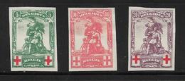 Belgique Timbres De 1914/15 N°126 A 128 Non Dentelés Pas Trouver La Cote, Cote Des Timbres Denteles 170€ - 1914-1915 Croix-Rouge