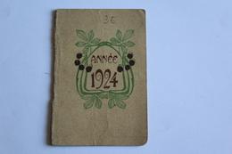 Calendrier Petit Format 1924 Maison Grivelet Coiffeur Parfumeur St Jean De Losne 9cm X6 Cm - Calendari