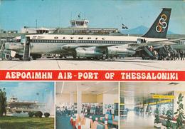 AERODROMES - Greece - Thessaloniki Airport 1978 - Olympic Air Boeing - Aerodromi