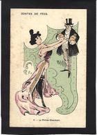 CPA Prostitution Femme Girl Woman Non Circulé éros érotisme Risque Art Nouveau - Women