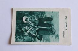 Calendrier Petit Format 1963  Oeuvre Pontificale De L Enfance Missionnaire 3 Volets  10cm X6,5 Cm - Calendriers