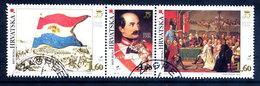 CROATIA 1998 Historic Events Of 1848 Strip, Used..  Michel 450-52 - Kroatien