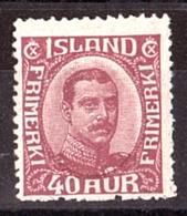 Islande - 1920 - N° 93 - Neuf * - Christian X - Neufs