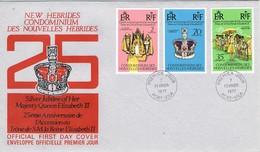 33651. Carta CONDOMINIUM  NOUVELLES HEBRIDES , Port Vila 1977. Elisabeth II Queen - Leyenda Francesa