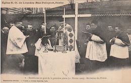 PARIS Rue Pelleport - Eglise N.D. De Lourdes - Bénédiction Et Pose De La Première Pierre - Récitation Des Prières. (11 F - District 02