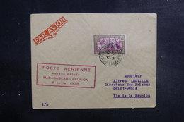 MADAGASCAR - Enveloppe Du Voyage D'Etude Aérien De Madagascar / La Réunion En 1938 - L 39527 - Madagaskar (1889-1960)