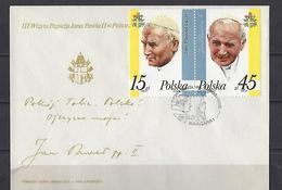 Pologne: 2909 / 2910 Sur FDC   (Visite Du Pape Jean Paul II) - FDC