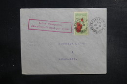 MADAGASCAR - Enveloppe  Transportée Exceptionnellement Par Avion De Tananarive / Mananjary En 1936 - L 39528 - Madagaskar (1889-1960)