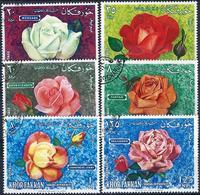 KHOR FAKKAN - 1966 - N°54/59 Oblitérés - ROSES - Khor Fakkan