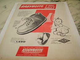 ANCIENNE PUBLICITE CHAUSSURE A BLOC TALON BABYBOTTE 1956 - Other