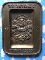 Cendrier En Laiton Pour Le Cognac Geo Sayer & C° Cognac & London Tres Rare !!!!! - Metall